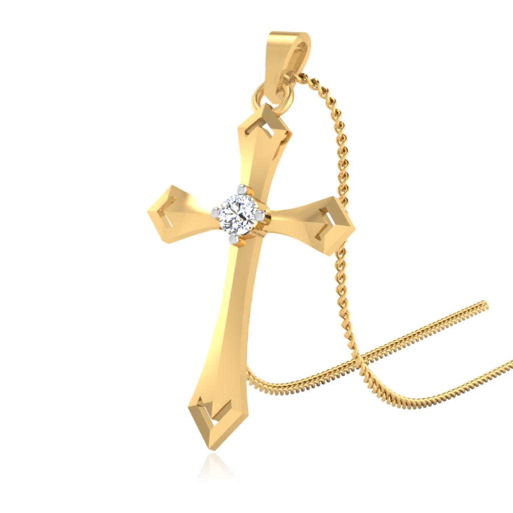 The Divine Cross Diamond Pendant