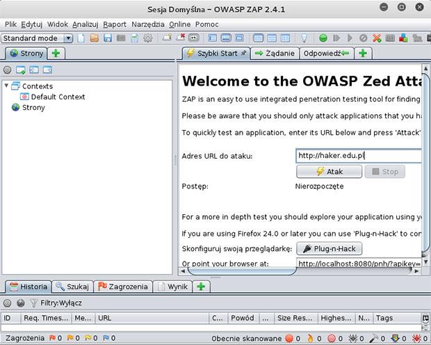 OWASP ZAP - narzędzia dla hakerów w Kali Linux