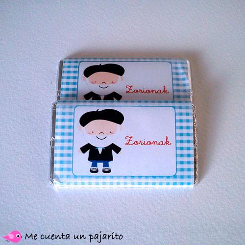 Chocolatina de felicitación de Navidad Olentzero
