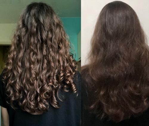 Волосы до и после метода КГМ