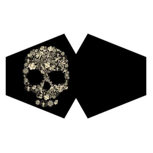 face mask - flower skull