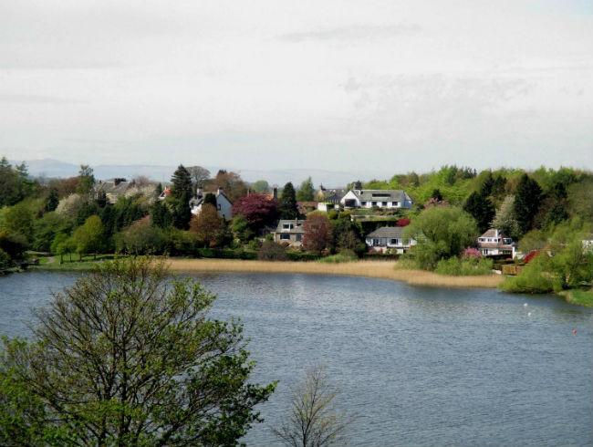 Вид с башни Линлитгоу