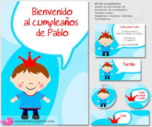 Kit de cumpleaños del príncipe