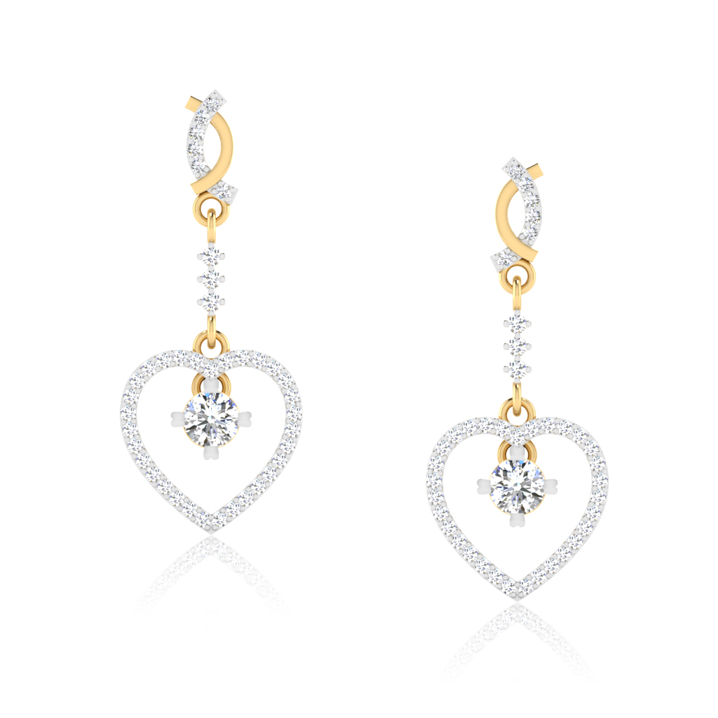 The Valentine Solitaire Drop Earrings