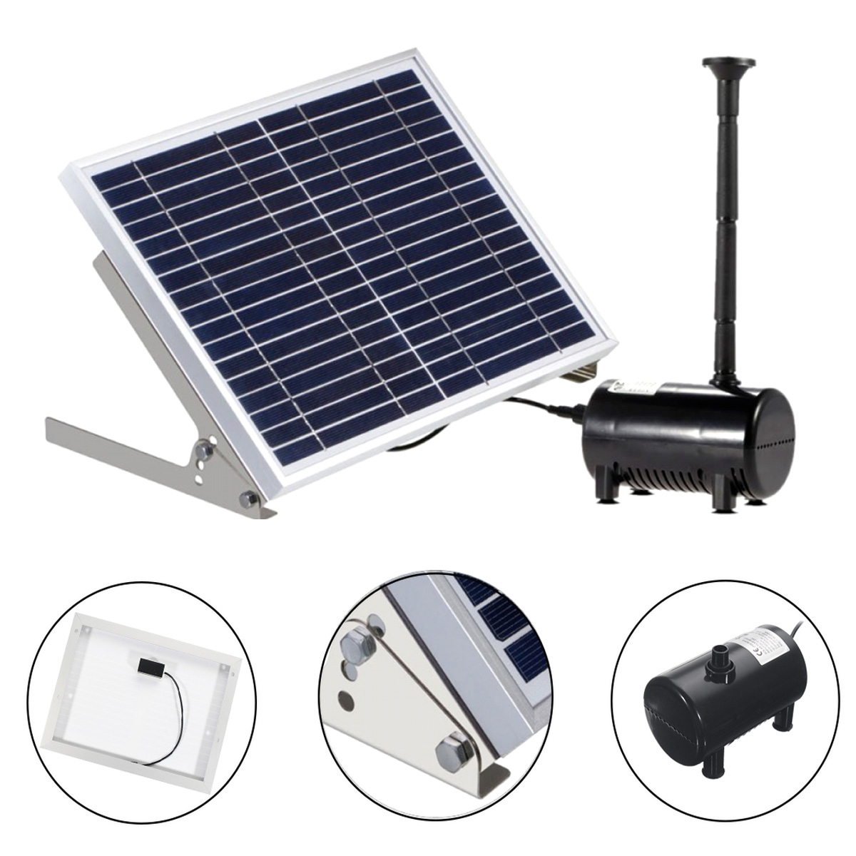 Other Gadgets Solar Panel Powered Brushless Water