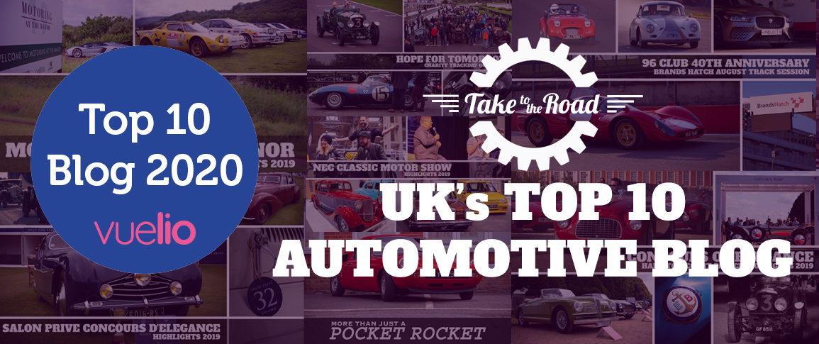 Take to the Road picks up the 2019 Top 10 UK Automotive Blog with Vuelio