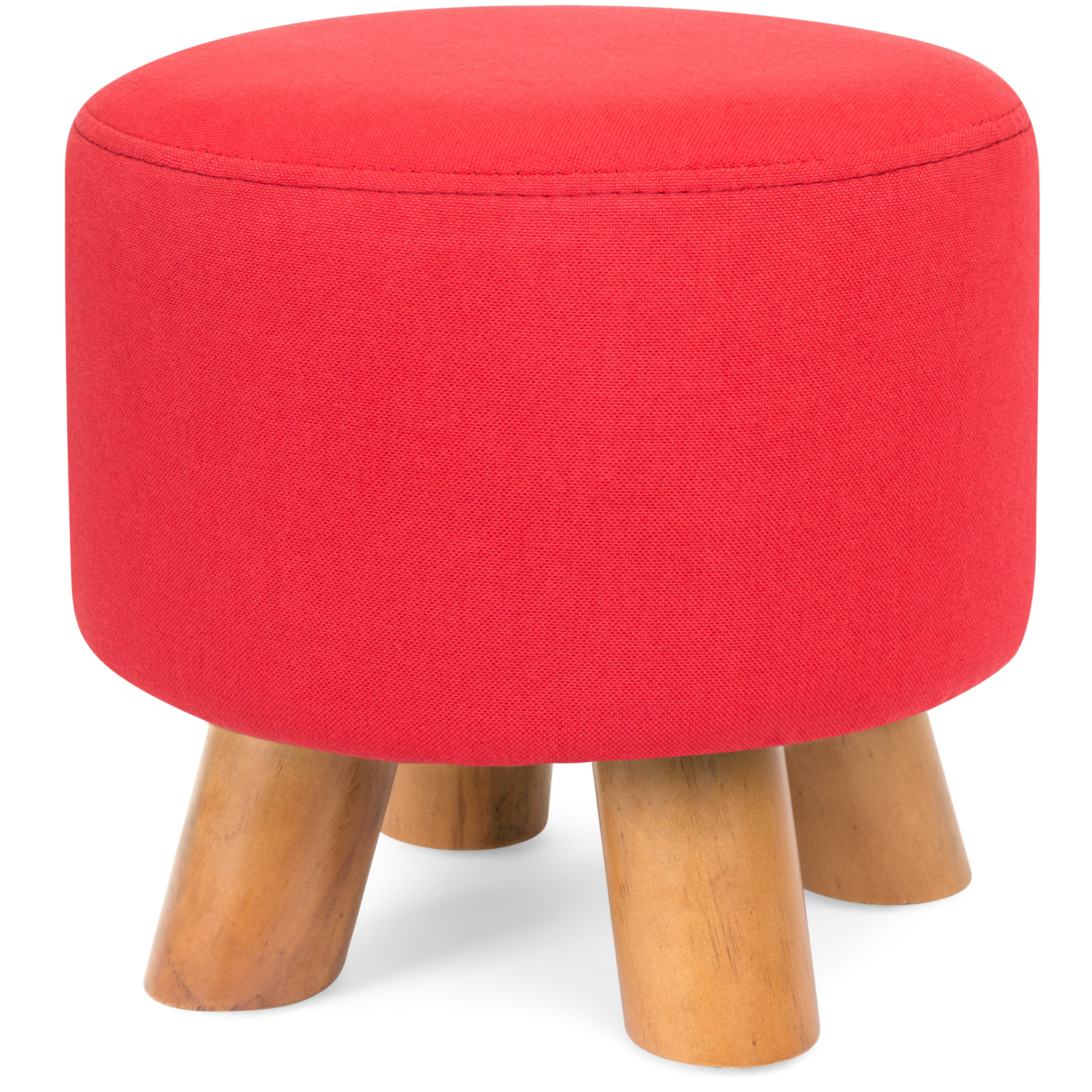 Bcp Upholstered Pouf Ottoman Footrest Stool Seat Home