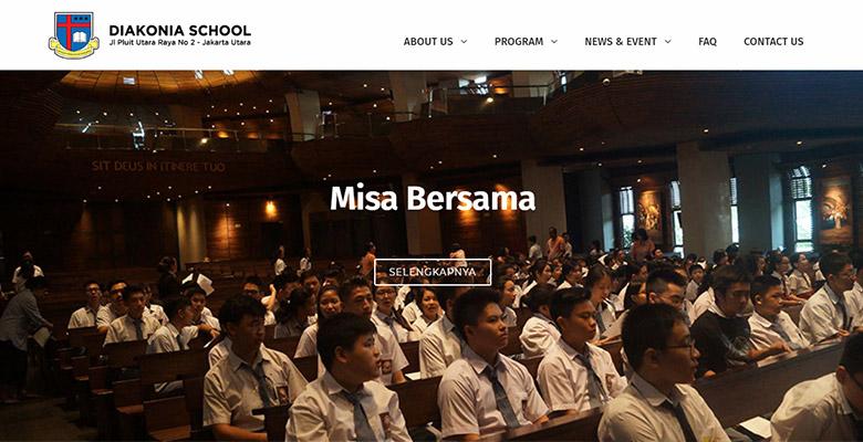 Website Sekolah Jakarta – Diakonia