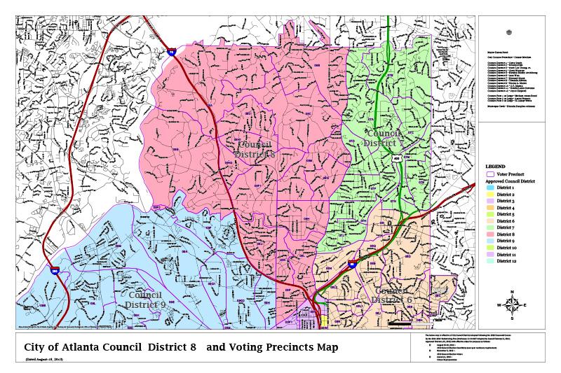 Atlanta District 8 map