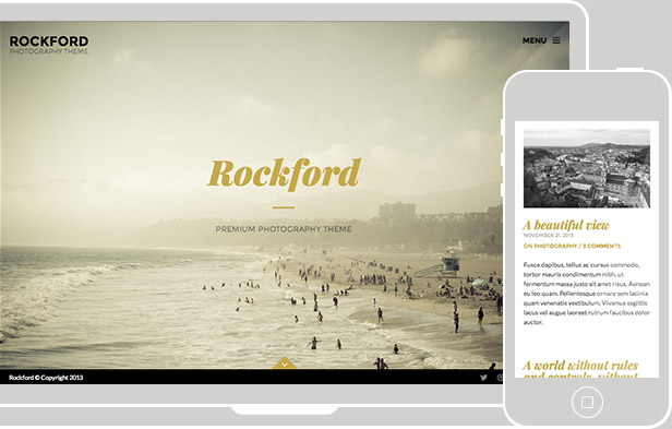 Rockford - Fullscreen Photography WordPress Theme