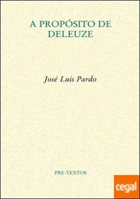 A propósito de Deleuze