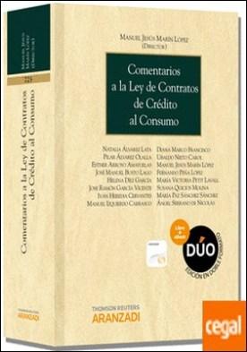 Comentarios a la Ley de Contratos de Crédito al Consumo (Papel + e-book) por Marín López, Manuel Jesús PDF