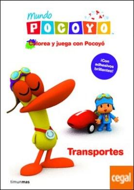 Colorea y juega con Pocoyó. Transportes . Libro de actividades con adhesivos