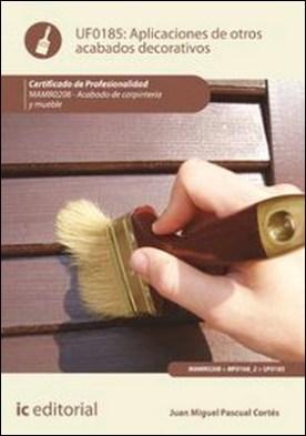 Aplicación de otros acabados decorativos