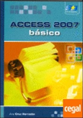 Access 2007. Básico por CRUZ, A.