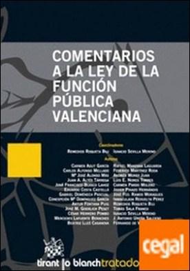 Comentarios a la Ley de la función pública valenciana por Agut García, Carmen...
