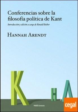 Conferencias sobre la filosofía política de Kant . Introducción y edición a cargo de Ronald Beiner