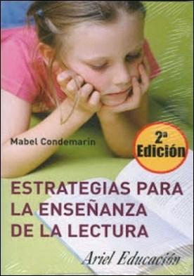 Estrategias para la enseñanza de la lectura por CONDEMARIN MABEL