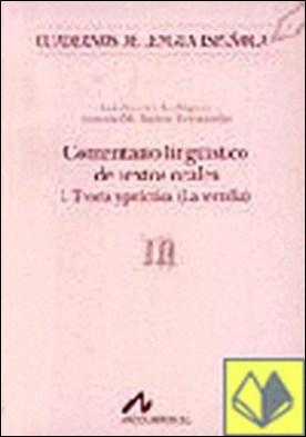 Comentario lingüistico de textos orales I (m)