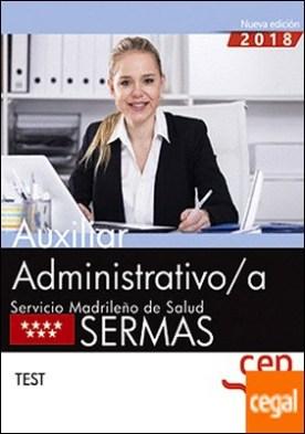 Auxiliar Administrativo/a. Servicio Madrileño de Salud (SERMAS). Test