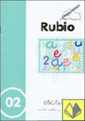 Escritura Rubio, n. 02 . Las vocales y los números 1, 2 y 3