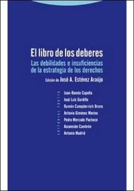 El libro de los deberes por José Antonio Estévez Araujo PDF