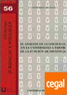 El análisis de la eficiencia en la Universidad a partir de la función de distancia por Trillo del Pozo, David PDF