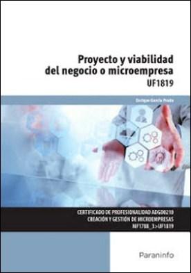 UF1819 - Proyecto y viabilidad del negocio o microempresa por ENRIQUE GARCÍA PRADO PDF