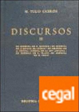 Discursos (ciceron) vol. 3 . En defensa de P. Quincio. En defensa de Q. Roscio, el cómico. En defensa de A. Cecina. Acerca de la ley agraria. En defensa de L. Fl