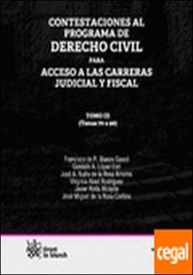 Contestaciones al programa de Derecho civil Tomo III para acceso a las carreras . (Temas 70 a 96) por Francisco de Paula Blasco Gascó PDF