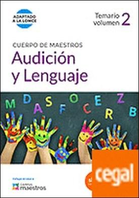 Cuerpo de Maestros Audición y Lenguaje. Temario Volumen 2 . Temario, vol. 2. (Adaptado a la LOMCE) por CENTRO DE ESTUDIOS VECTOR, S.L. PDF