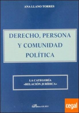 Derecho, persona y comunidad política: la categoría