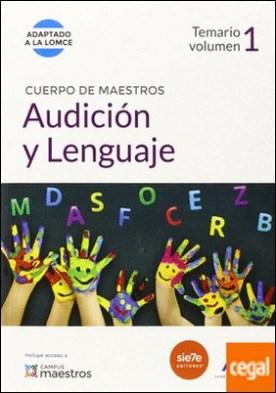 Cuerpo de Maestros Audición y Lenguaje. Temario Volumen 1 . Temario, vol. 1. (Adaptado a la LOMCE) por CENTRO DE ESTUDIOS VECTOR, S.L. PDF
