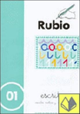 Escritura Rubio, n. 01 . Las vocales y los números 1, 2 y 3