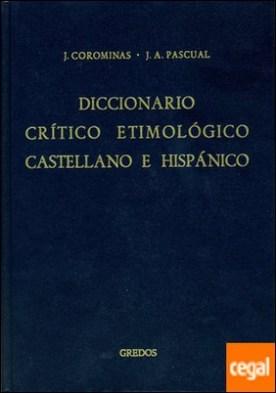 Diccionario critico etimologico 1 (a-ca)