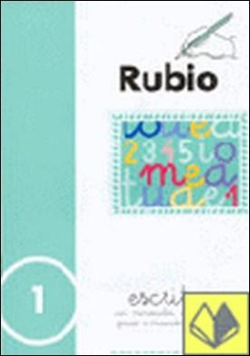 Escritura Rubio, n. 1 . con minúsculas, dibujos, números, grecas e iniciación de mayúsculas