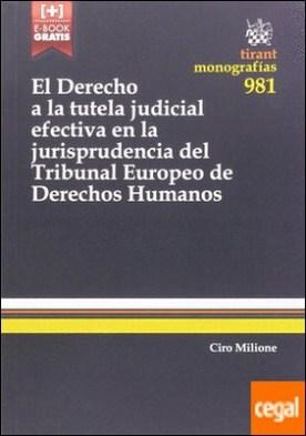 El Derecho a la Tutela Judicial Efectiva en la Jurisprudencia del Tribunal Europeo de Derechos Humanos por Milione, Ciro PDF
