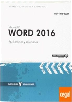 Word 2016 . 76 ejercicios y soluciones