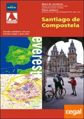 Santiago de Compostela, A Coruña. Plano callejero y mapa de carreteras . 1:9500