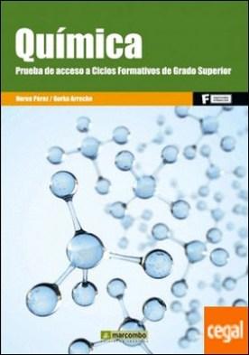 Química. Prueba de acceso a Ciclo Formativos de Grado Superior