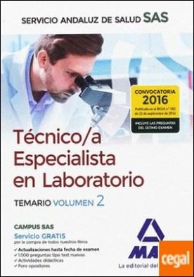 Técnico/a Especialista en Laboratorio del Servicio Andaluz de Salud. Temario específico volumen 2 por SILVA GARCIA, CARMEN PDF