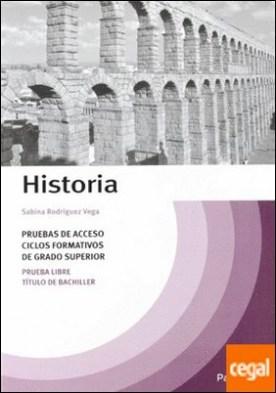 Temario Historia pruebas de acceso a ciclos formativos de grado superior