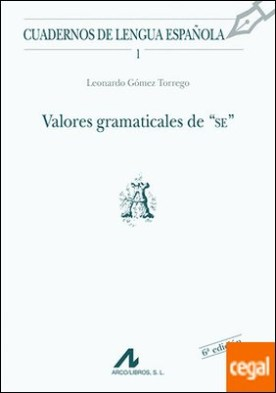 Valores gramaticales de SE (A)