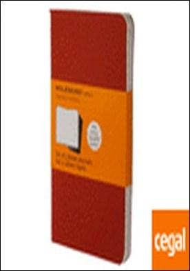 Set de 3 cuadernos Cahier a rayas - Pocket - Color Rojo por VV AA