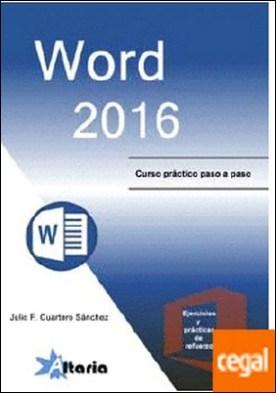 Word 2016 por Cuartero Sánchez, Julio F. PDF