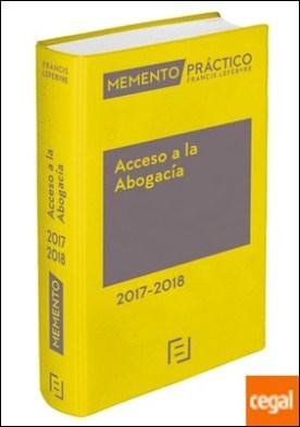 Memento Acceso a la Abogacía 2017-2018