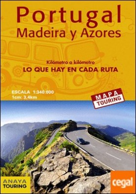 Mapa de carreteras de Portugal, Madeira y Azores 1:340.000 - (desplegable) por Anaya Touring
