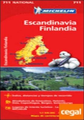 Mapa National Escandinavia Finlandia . Escala 1:500.000 (Incluye Noruega, Suecia y Dinamarca)