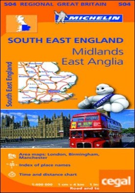 Mapa Regional South East England, Midlands, East Anglia