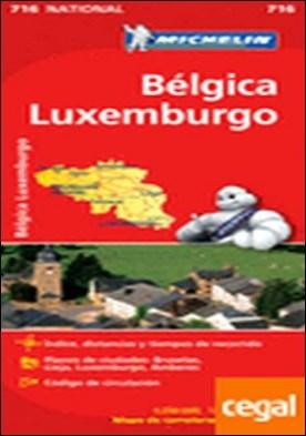 Mapa National Bélgica Luxemburgo . Edicion 2012